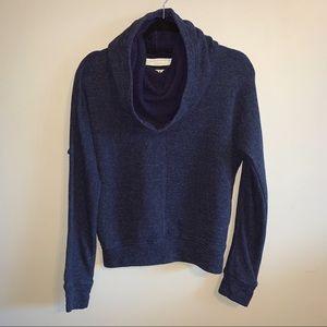 2/$40 Aritzia TNA blue clifton hoodie w cowl neck